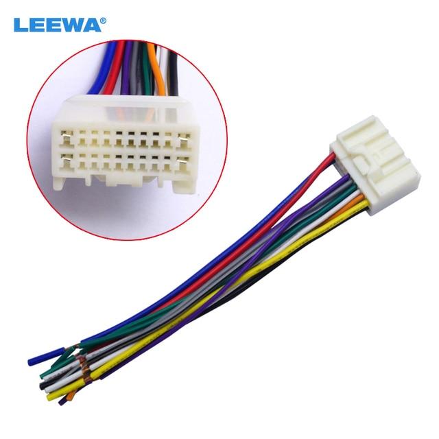 leewa car radio audio cd power wire harness adapter for mitsubishi rh aliexpress com Kenwood KDC-X794 Wiring Harness Pioneer Wiring Harness Color Code