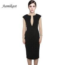 Elegant V-Neck Sleeveless Dress Knee-length Temperament Charm Stretch Bodycon Party Sexy Women Dresses Vestidos