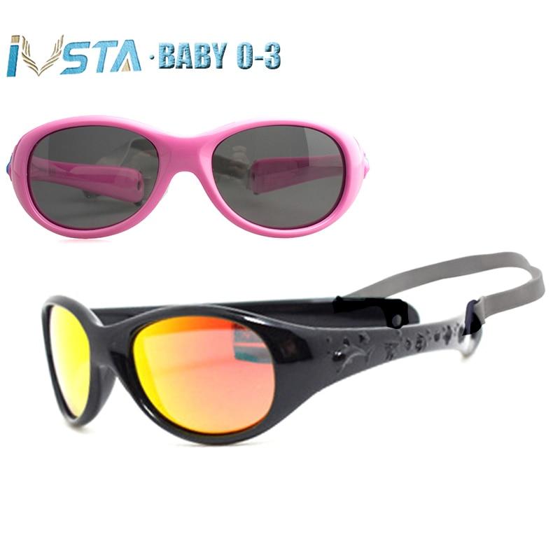 3ae4bf1c17 IVSTA 0-3 gafas de sol para bebés pequeñas gafas de sol para niños niñas  sin bisagra de goma irrompible TR90 Marco de silicona TAC lentes  polarizadas UV400