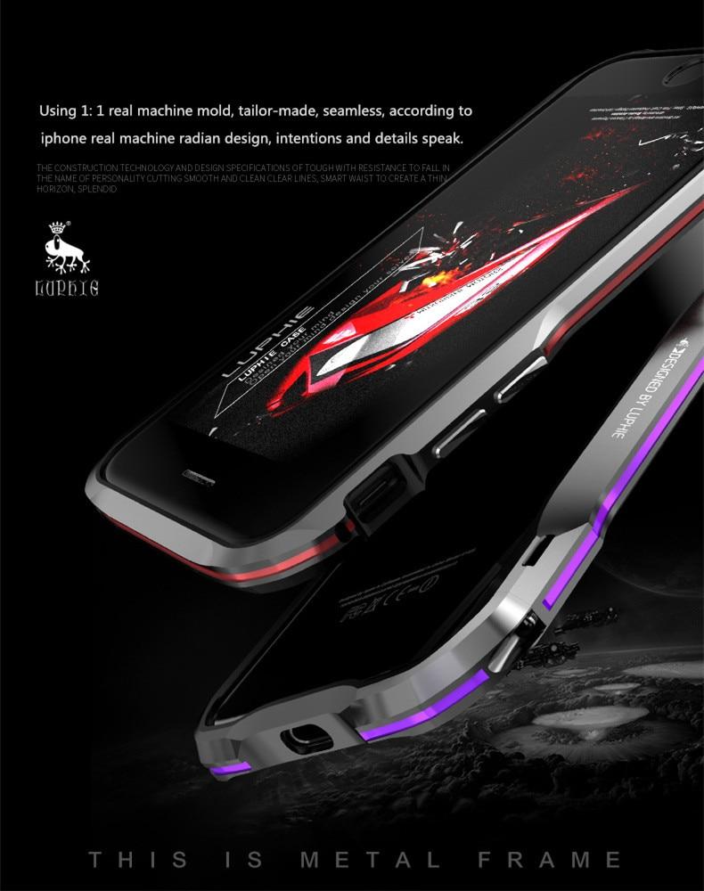 iPhone X 7 8 Plus Luphie Metal Bumper Aluminum Case (7)