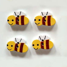 50pcs/Pack DIY Two Holes Buttons Cartoon Animal Wooden Childrens Handmade Decorative
