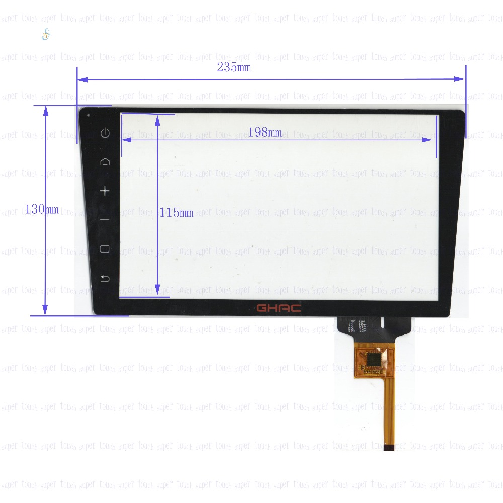 ZhiYuSun for CHAC 235mm*130mm 8inch Capacitive touch screen panel for Car DVD, 235*130GPS screen glass zhiyusun new touch screen 364mm 216mm 15 6inch glass 364 216 for table and computer commercial use