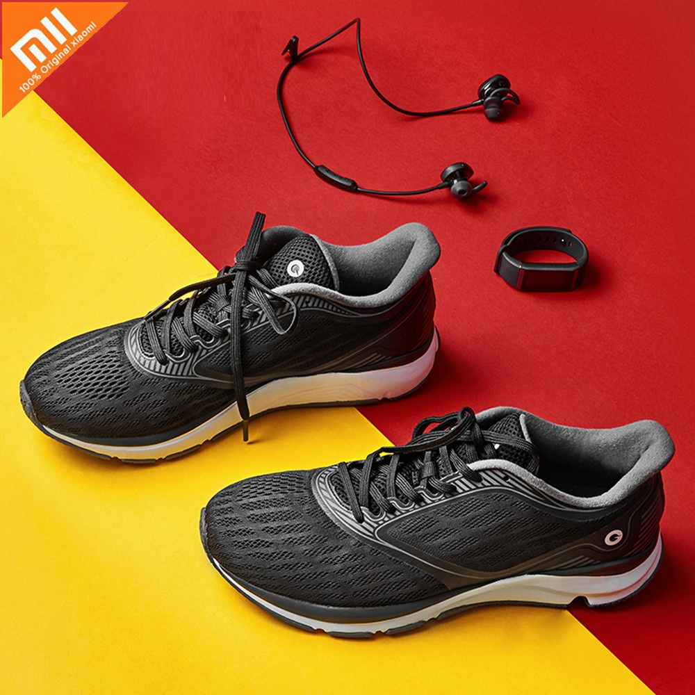 Xiaomi Mijia Amazfit Antelope Men's Running Outdoor sneakers for Women Smart Shoes sport Goodyear Rubbe zapatillas hombre Chip-in Smart Remote Control from Consumer Electronics    1