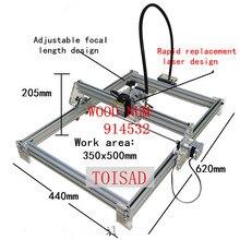 3000 mw bricolage bureau mini laser gravure machine marquage sculpture machine, 350*500 visage de travail