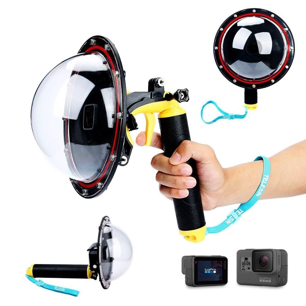цена на 6 Inch Dome Port for GoPro Hero 5 Underwater Diving Hood Dome Shutter Stabilizer Pistol Trigger Floating Hand Selfie Stick