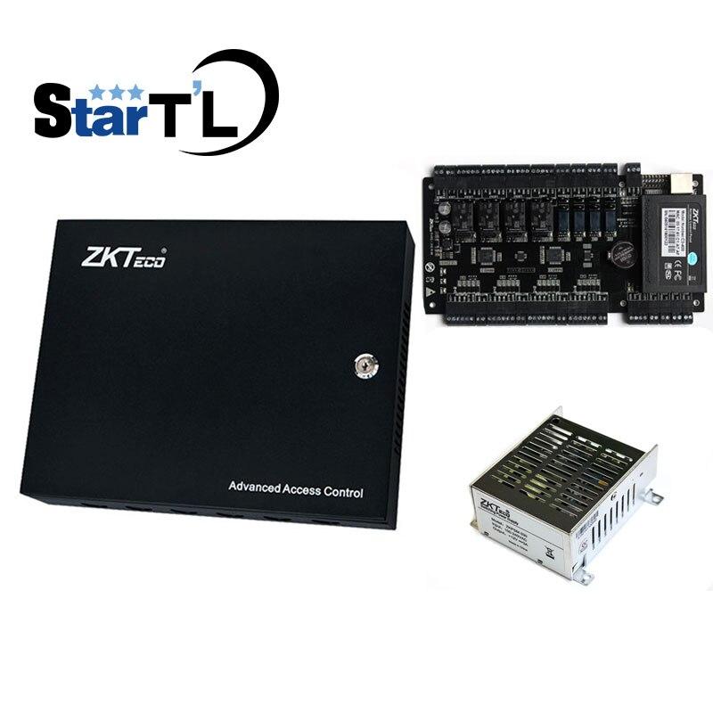 TCP/IP 4 doors access control panel access control board C3 400 + PSM030B 12V5A Power Supply Box