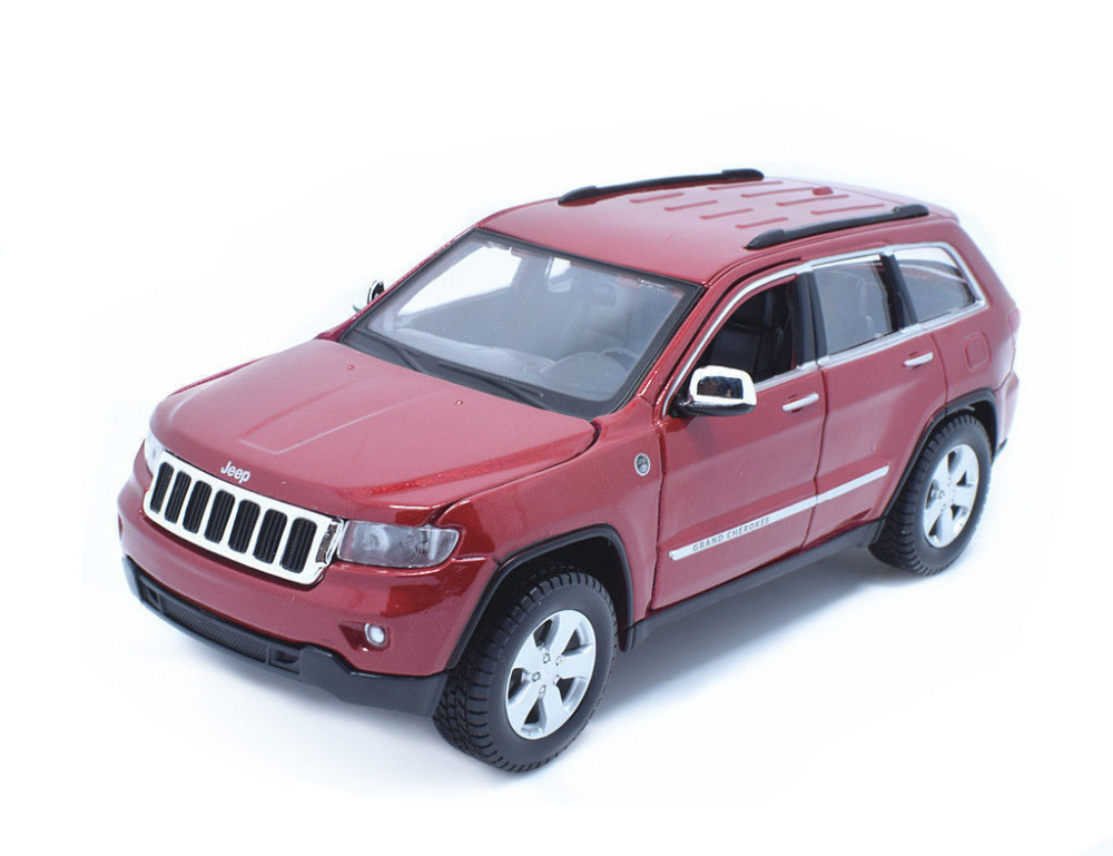 Maisto 1:24 Jeep Grand Cherokee Laredo Red Diecast Model Car Toy New In Box