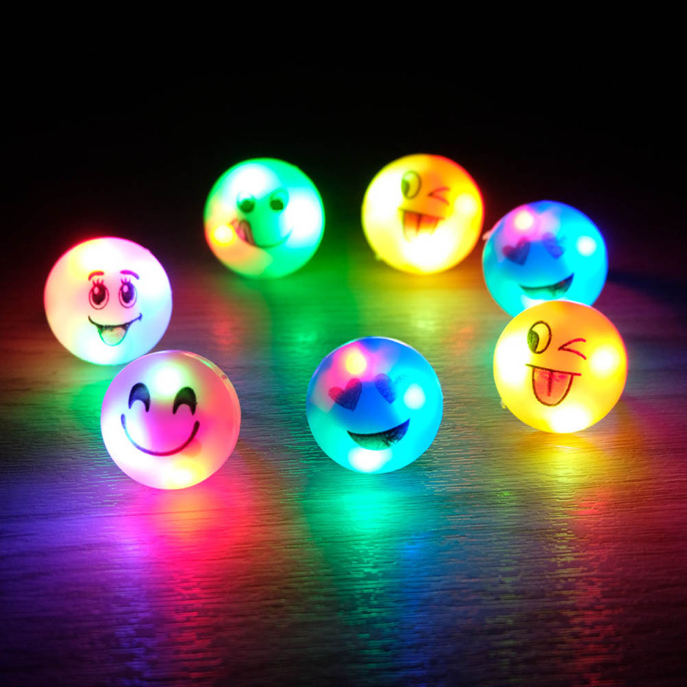 Color Pattern Random!!! 5pcs Finger Light Shiny Neon Stick Finger LED Ring Luminous Toy Glow Dance Toy Shining Rings