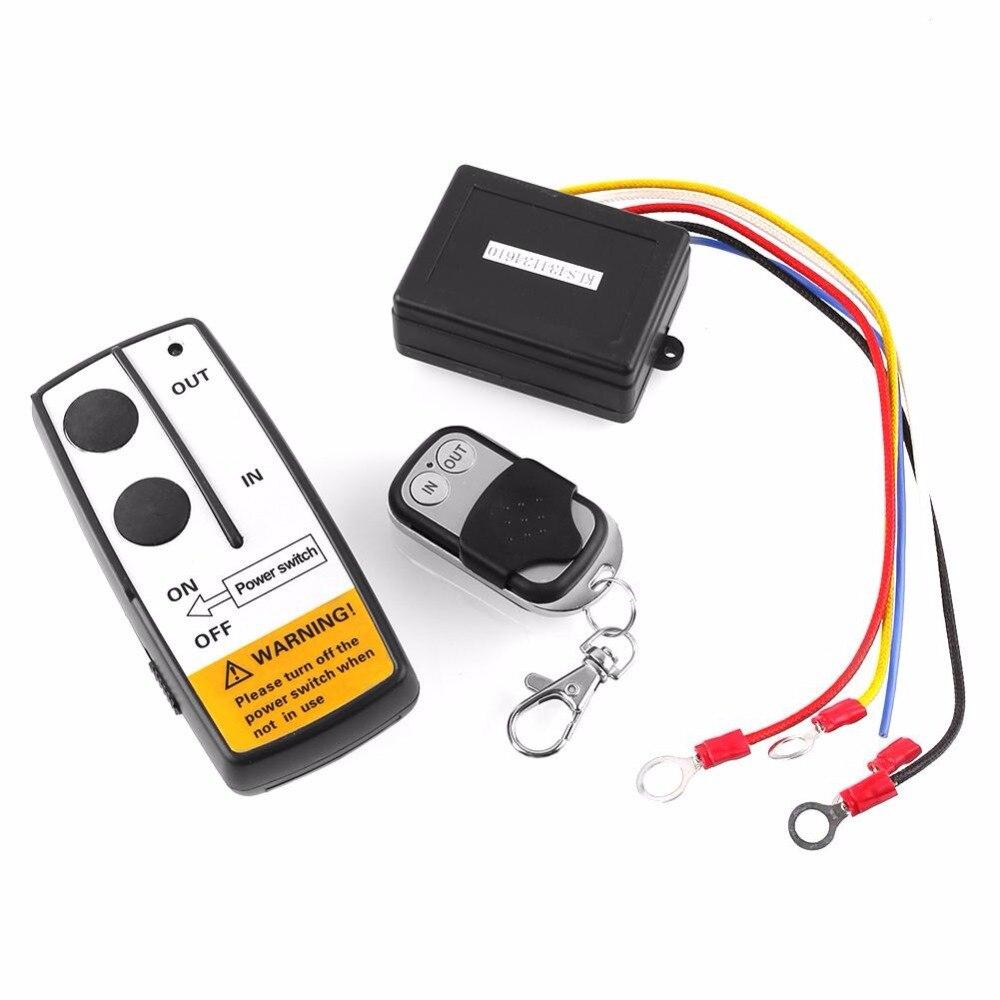VEHEMO DC12V Wireless 50FT Remote Control Kit For Jeep ATV Winch key chain Warn Ramsey Bulldog Latest Long range model