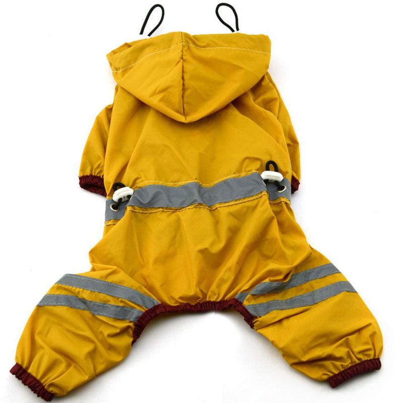Puppy Pet Dog Cool Raincoat Glisten Bar Hoody Waterproof Rain Lovely Jackets Coat Apparel Clothes 669