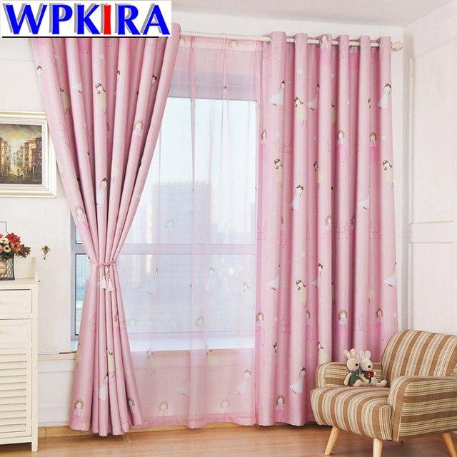 Online Shop Romantic Pink Tulle Girls Curtains Window Screening ...