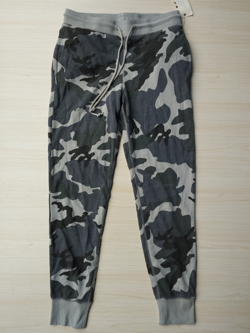 Mens Camouflage Print Fleece Pants USA Size S-XXL (Not Thick French Terry)