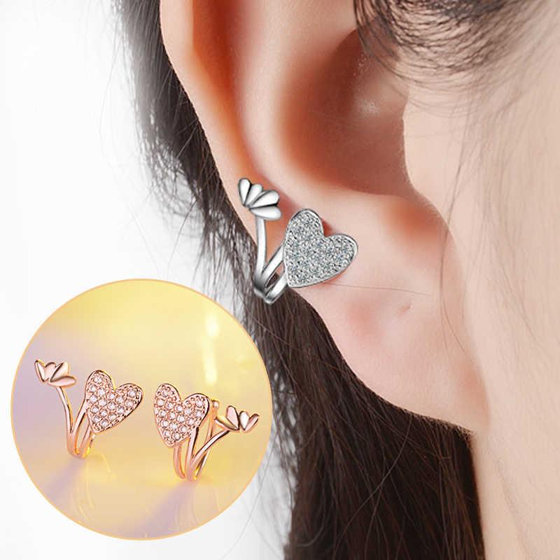 LNRRABC 2020 yeni sevimli şeftali kalp kulak klipsi kulak kemik klip moda popüler takı bayanlar butik küpe kadın aksesuarları