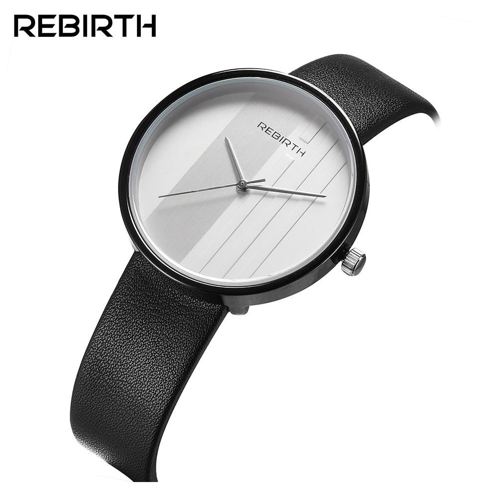 Rebirth new Casual quartz  lover's watch Fashion trendy watch simple men and women neutral couple waterproof belt quartz watch