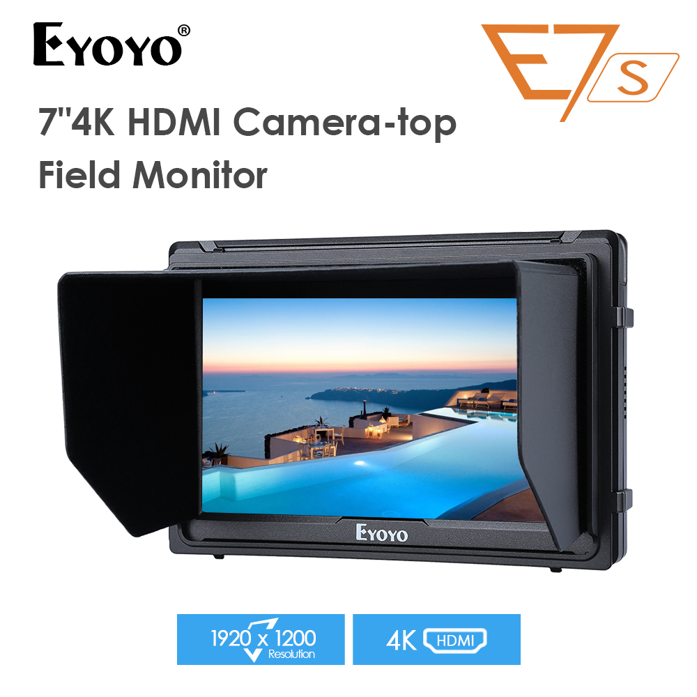 E7S 7 Inch 1920x1200 IPS HD LCD Peaking Camera Video Monitor Display 4K HDMI Input Loop-out for Canon Nikon DSLR BMPCC 5DIVE7S 7 Inch 1920x1200 IPS HD LCD Peaking Camera Video Monitor Display 4K HDMI Input Loop-out for Canon Nikon DSLR BMPCC 5DIV