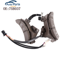 New Brown Color A Pair Steering Wheel Controls Switch For Toyota Highlander Land Cruiser 75B037