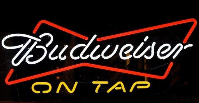 Custom Budweiser On Tap Neon Light Sign Beer Bar