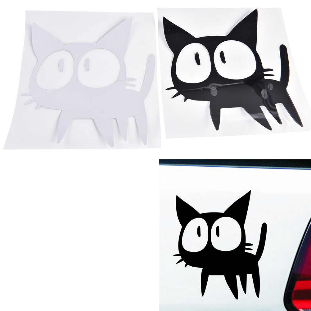 baru 1 buah lucu vinyl tahan air lucu besar mata kucing stiker mobil kartun kucing stiker mobil 2 warna car sticker cat car stickerscat car aliexpress id aliexpress com