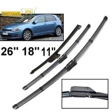 """Misima 3 шт. щетки стеклоочистителя ветрового стекла для VW Golf 7 MK7 2012 2013 Передний Задний стеклоочиститель 2"""" 18"""" 11"""