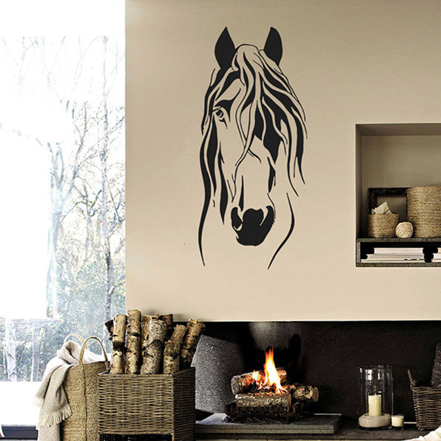Vinyl Removable Wall Decal Head Of Horse Wall Sticker Wall Murals