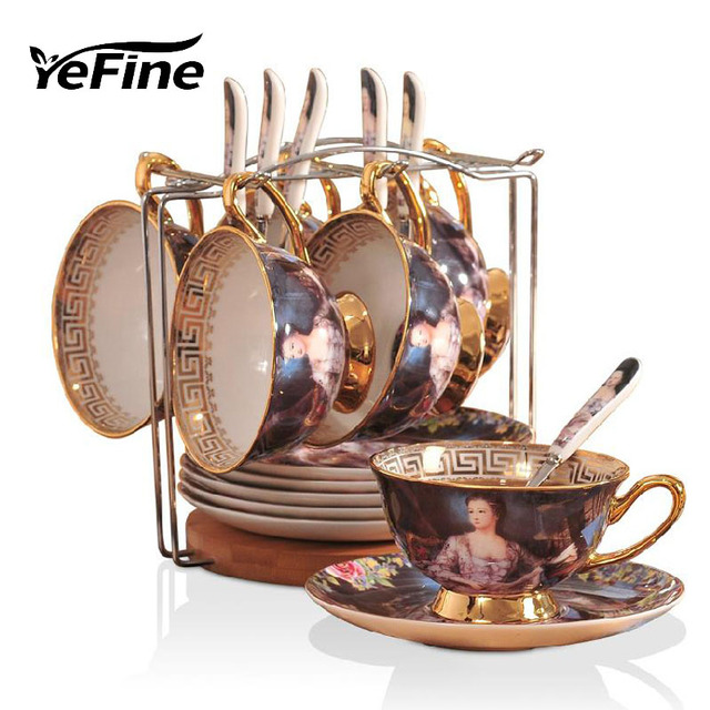 Yefine European Style Coffee Cups And Saucers Top Quality