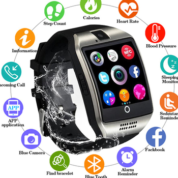 New Arrival Smart Watch with Camera Touch Screen Support SIM TF Card Bluetooth Smartwatch for iPhone Xiaomi Android Phone PK X6