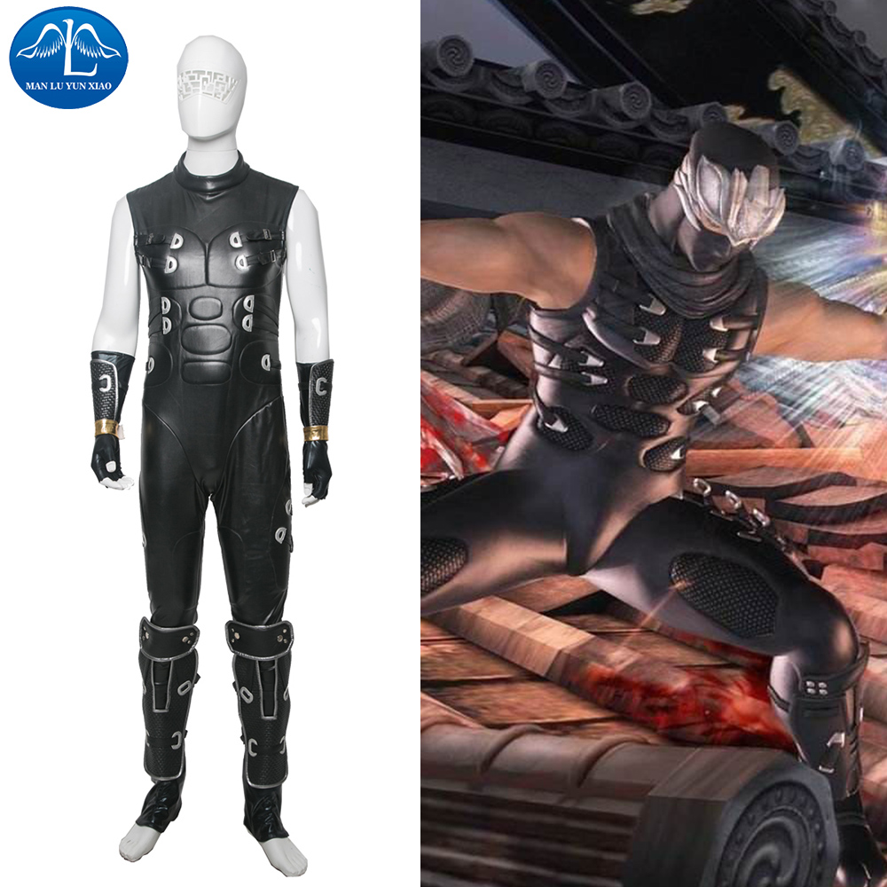 MANLUYUNXIAO New Men's Ninja Gaiden RYU HAYABUSA Cosplay Costume Halloween Costume For Men Custom Made Wholesale