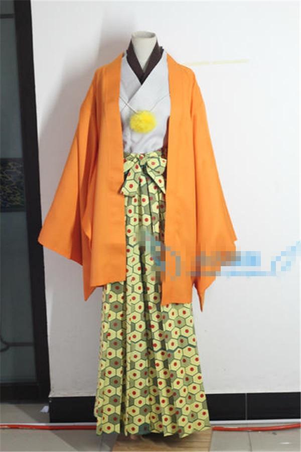 New Clothing Hot Anime Gintama Tokugawa Shigeshige Uniform Kimono Cosplay Costume Customized Shirt+Coat+Kendo Pants