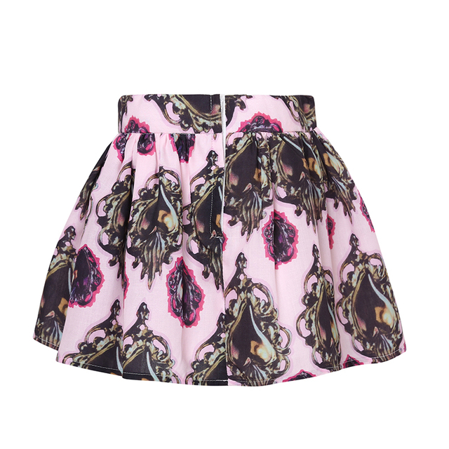 Girls' Casual Floral Cotton Skirt
