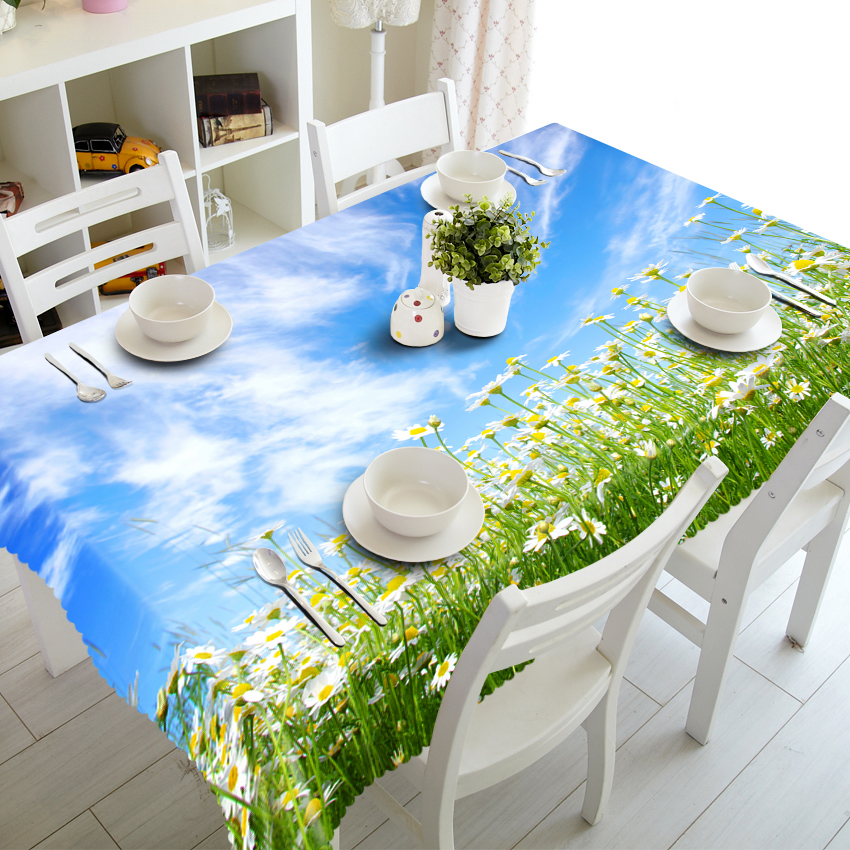 3D Flower Sea Pattern Tablecloth Thick Polyester Rectangle Suitable For Wedding Banquet Table Cloth Decoration Custom Size Салфетницы