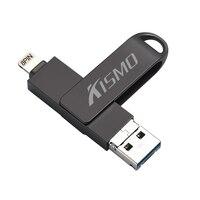 Kismo OTG USB-Stick USB3.0 U DIsk Mini Stift Stick Für iPhone X 8 7 6 Plus 5 s ipad Mini Air Samsung A3 A5 A7 2016 S6 S7