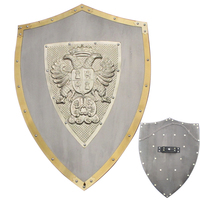 24 Medieval Knight Lion Knights Shield Armor with Sword Holder Brand New Steel Material Craft Display Decorative
