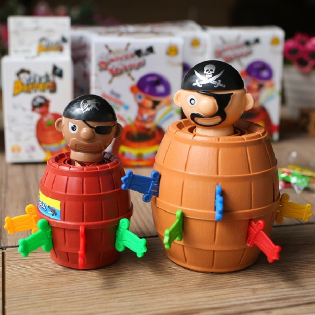 Novelty Gag Toys 1 Set Pirate Outdoor Fun Sports Barrel Crisis Classic Family Lucky Baby Toys Party Gags Practical Jokes Gifts