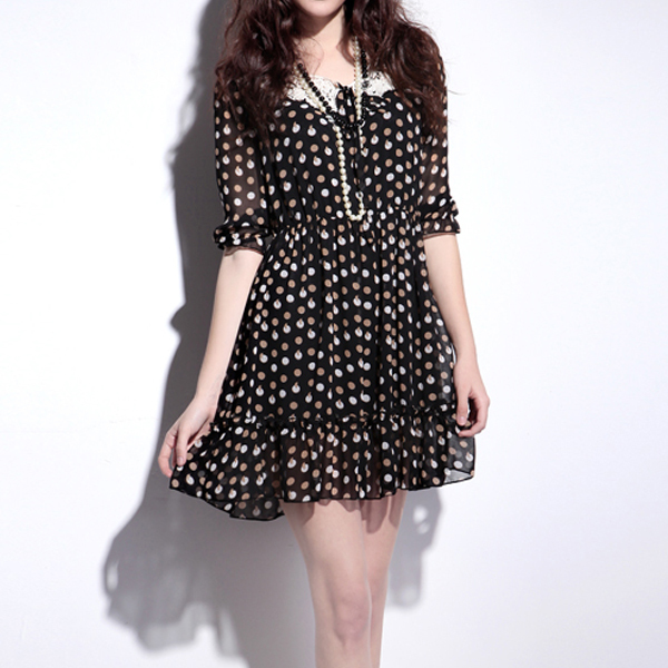 Mm plus size clothing 2013 summer Large loose chiffon one-piece dress