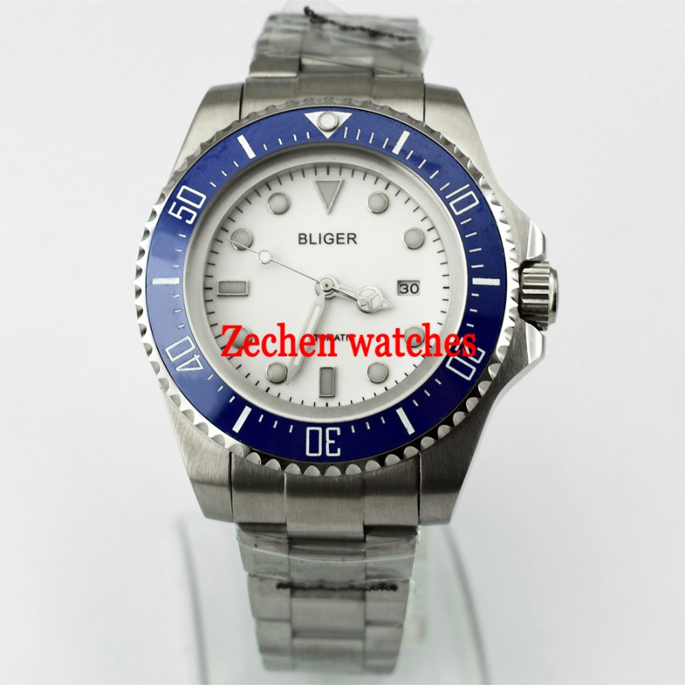 43mm Bliger wath Date Day Automatic Mechanical Luminous Mens Watch WristWatch цена и фото