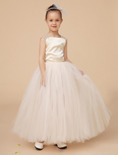 Fashion elegant little girls dresses with appliques kids girls formal party dresses Pageant dresses