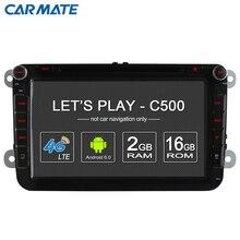4G SIM LTE Nerwork Voiture DVD Radio Player Pour VW Skoda Octavia 2 Android 6.0 2G RAM WIFI 1024*600 GPS De Voiture multimédia