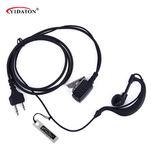 Hot 2 Pin PTT Ear Hook Earpiece Earphone MIC For MIDLAND Walkie Talkie G6/G7/G8/G9 GXT550 GXT650 LXT80, LXT110, LXT112 CB Radio