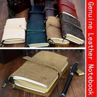 130mm*100mm Newest Genuine Leather Sketchbook Bullet journal Notebook paper Weekly Planner Accessories Stationery Diary 01661|travelers notebook vintage|travelers notebook|travel journal -