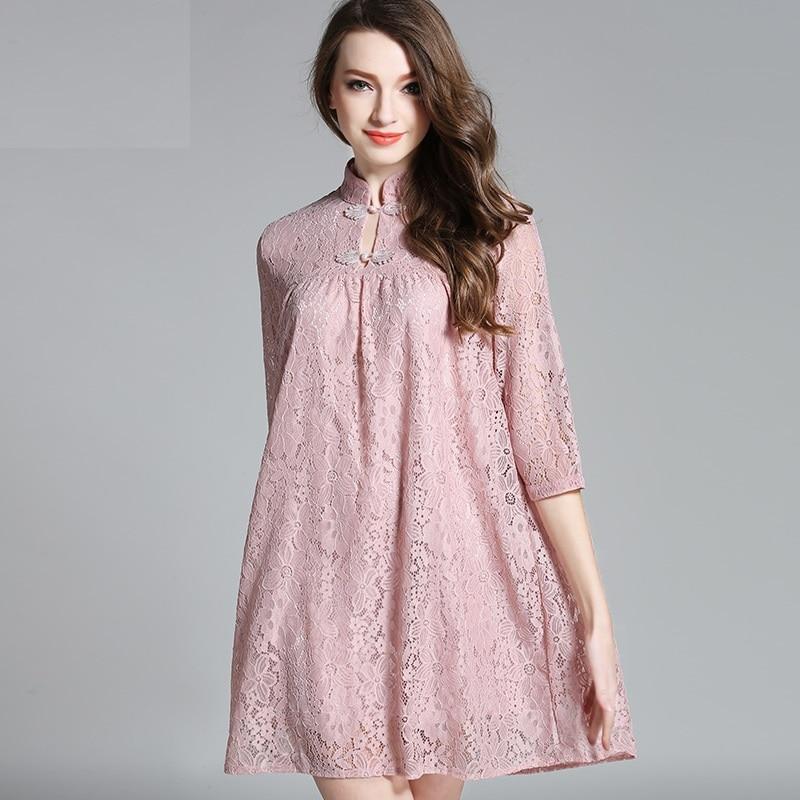 Buy Mandarin Collar Flare Dress And Get Free Shipping On Aliexpress
