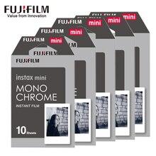 10-50 yaprak Fujifilm Fuji Instax Mini 8 9 Siyah ve beyaz Monokrom Filmler için Anlık Mini 8 9 7 s 25 Kamera fotoğraf kağıdı