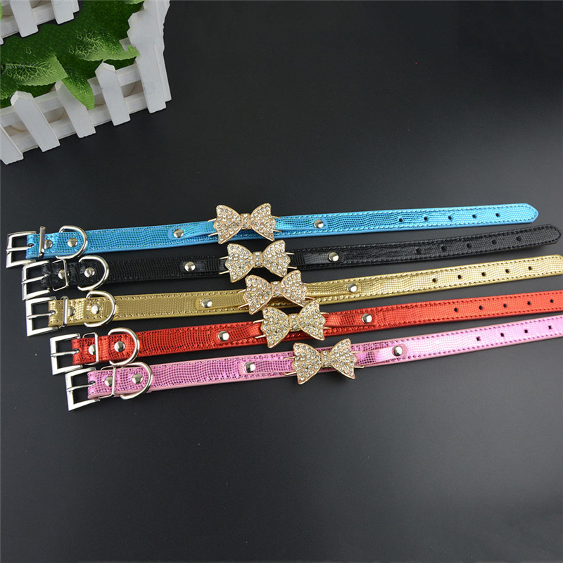 50 Pieces lot New Fashion Snake Bright Pu Leather Collar for Dog Pet Cat with