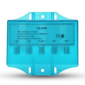 Image 2 - עמיד למים 4x1 DiSEqC 1.0 2.0 מתג 950 2400MHz לווין Lnb FTA צלחת LNBS או לווין מקלט