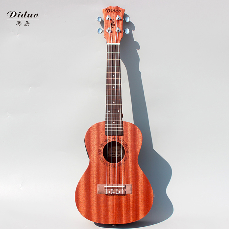 23 inch mahogany electric box with EQ ukulele and ukulele 4 string small guitar chic cool music to highlight unique personality 12mm waterproof soprano concert ukulele bag case backpack 23 24 26 inch ukelele beige mini guitar accessories gig pu leather