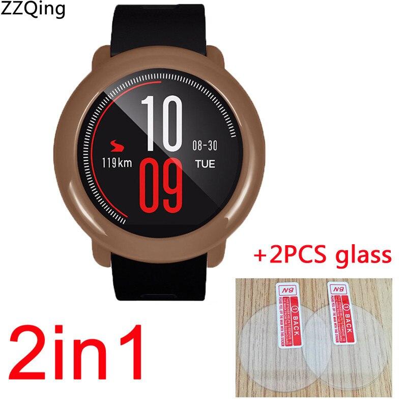 Cleveres Zubehör Ausdauernd 2in1 Pc Protector Cases Für Xiaomi Huami Amazfit Tempo Fall Smart Watch Band Abdeckung Shell Shock-beständig Glas Bildschirm Protector Offensichtlicher Effekt