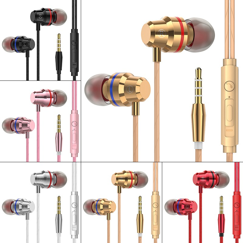 M5 Professional Wired In-ear Earphone Game Practical Durable Portable Sport Music Headset With Microphone High Quality earpiece