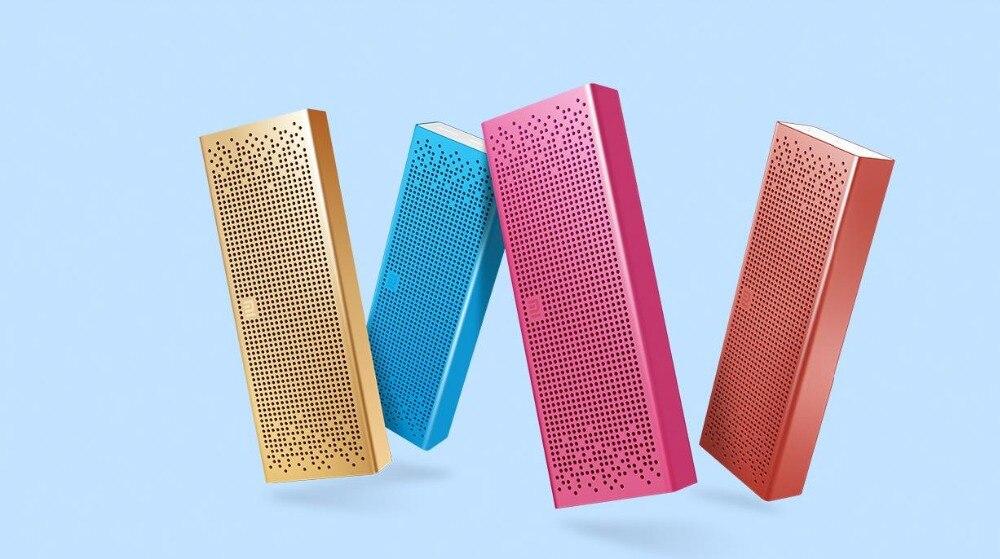 Xiaomi квадратная Bluetooth Динамик Беспроводной Портативный металла AUX Вход для MP5/MP3 плеер/телефона громкой связи для вызова