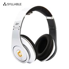Sílaba G04 Plegable Wired over-ear Auriculares de Reducción de Ruido Auriculares para la Computadora del teléfono Móvil batería AAA Reemplazables