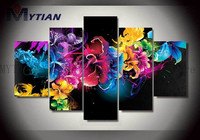 MYTIAN 5D Diamond Painting Flowers&Butterfly Full Square Diamond Multi Picture Combination Cross Stitch Home Decor Gift