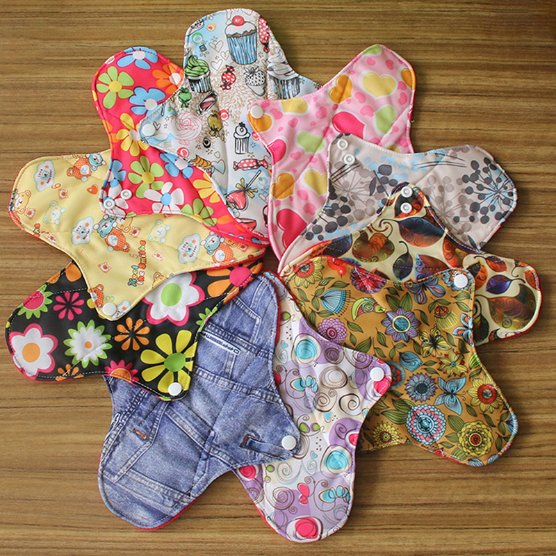 Long Panty Liner Cloth Menstrual Pad,Bamboo Charcoal,Mama Cloth Menstrual Sanitary Reusable Washable Random